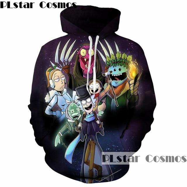 PLstar Cosmos Rick and Morty 3D Hoodies Men/Women Sweatshirts printing  funny cartoon Hoodie Pullovers