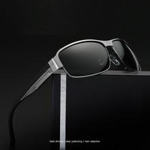 width-147 Wide temple Polarized Men Sunglasse New Retro Metal Eyewear Classic Designer Driving male brand sunglasses with case
