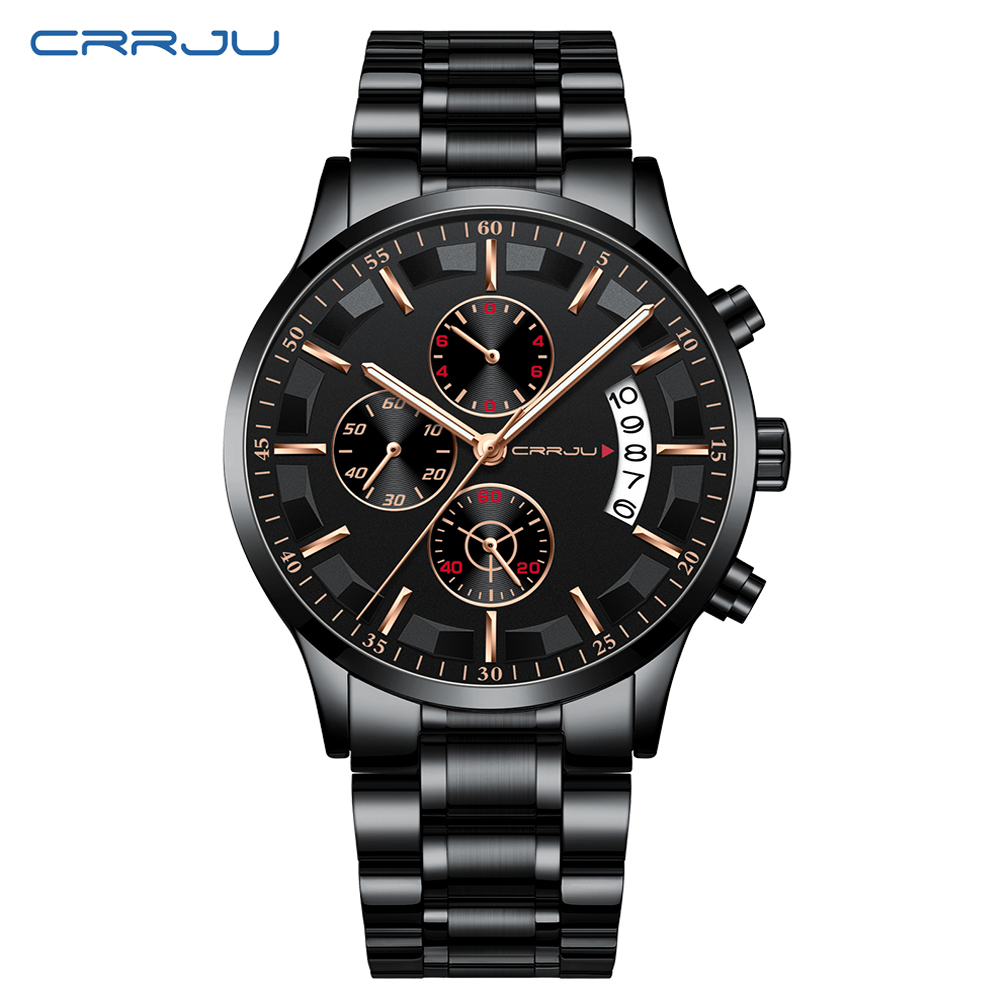 Image 5 - New CRRJU Fashion Men Watches Male Top Brand Luxury Quartz Watch Men Casual Waterproof Sports WristWatch Relogio Masculino 2019-in Quartz Watches from Watches