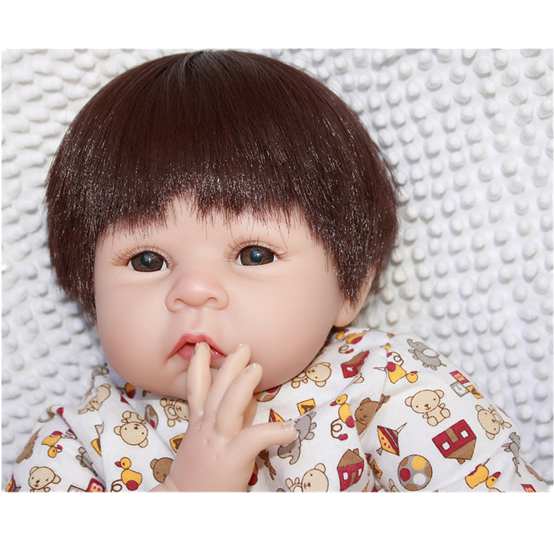 55cm Reborn Baby Doll Real Silicone Doll Kids Toys Girls Bebes De Silicona Birthday Gift Juguetes Bouquets