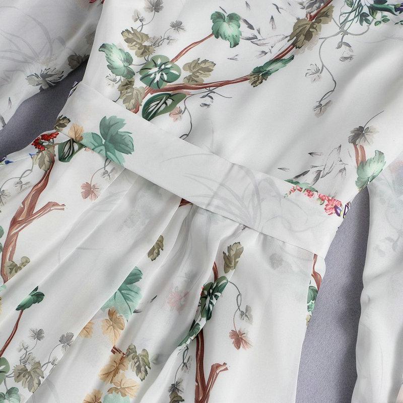 De Avec Conduites D'été Des Dames Impression Ceintures Robe Pour Femmes Carburant Soie Printemps Douille Pleine Rétro Color Picture 2016 Papillon ZxwFqqdf
