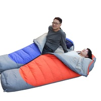 Camcel Ultralight Camping Sleeping Bag Mummy White Duck Down Sleeping Bag Compression Sleeping Bag For Spring