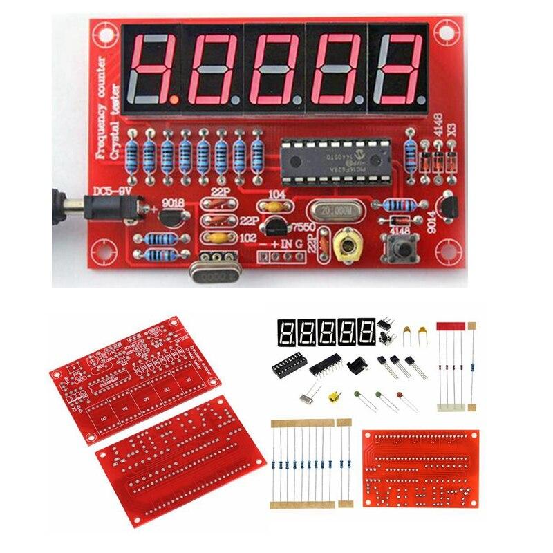 DIY Kits RF 1Hz-50MHz oscilador de cristal contador de frecuencia medidor Digital LED probador medidor de frecuencia Módulo de tubo digital