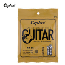 Orphee 6pcs/set  Classic Guitar Strings Nylon and Silver Plated Wire Hard/Normal Tension 028-043 Accessories