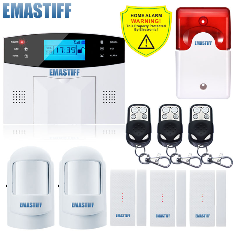 NEW SENSOR Russian/French/Spanish/ English Voice Wireless GSM Home Security Alarm System Remote Control 99 Wireless+7 wired zone gsm sms home burglar security gsm alarm system detector sensor kit remote control english russian french spanish lanuage