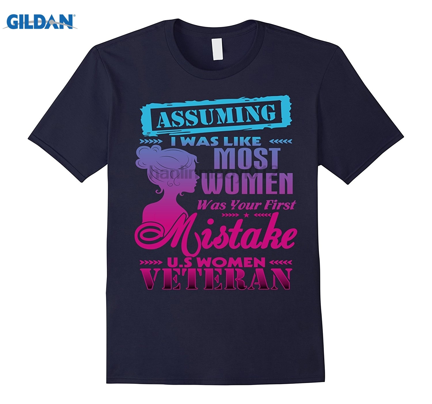 GILDAN U.S WOMEN VETERAN t shirts Mothers Day Ms. T-shirt