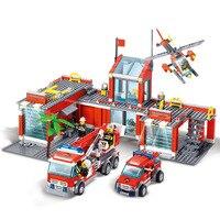 Qunlong 8051 City Fire Station Model Building Blocks 774pcs Educational Toys For Children Compatible With Legoe