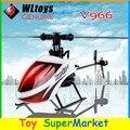 WLtoys V966 6 Canal Helicóptero de Controle Remoto RC 6-Axis Gyro RTF 6CH 3D Dublê Single-lâmina 2.4 GHz Rádio Star Power 1