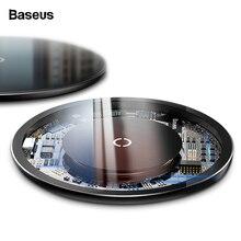 Беспроводное зарядное устройство Baseus Qi для iPhone 11 Pro Max X, стеклянная панель, беспроводная зарядная панель для samsung S9, беспроводная зарядная панель