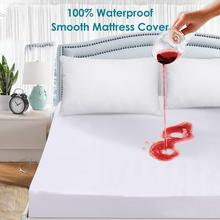 2016 Cheapest Size 160X200cm Smooth Waterproof Mattress Protector For Box Spring Mattress Cover BedBug Proof and Hypoallergenic  factory cheap price mattress pocket box spring mattress