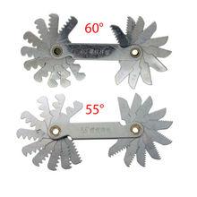 Fixmee 20 лезвий измерительные инструменты измерительные приборы 1 шт. 55 градусов Whitworth+ 1 шт. 60 градусов метрический винт шаг резьбы мера Gage