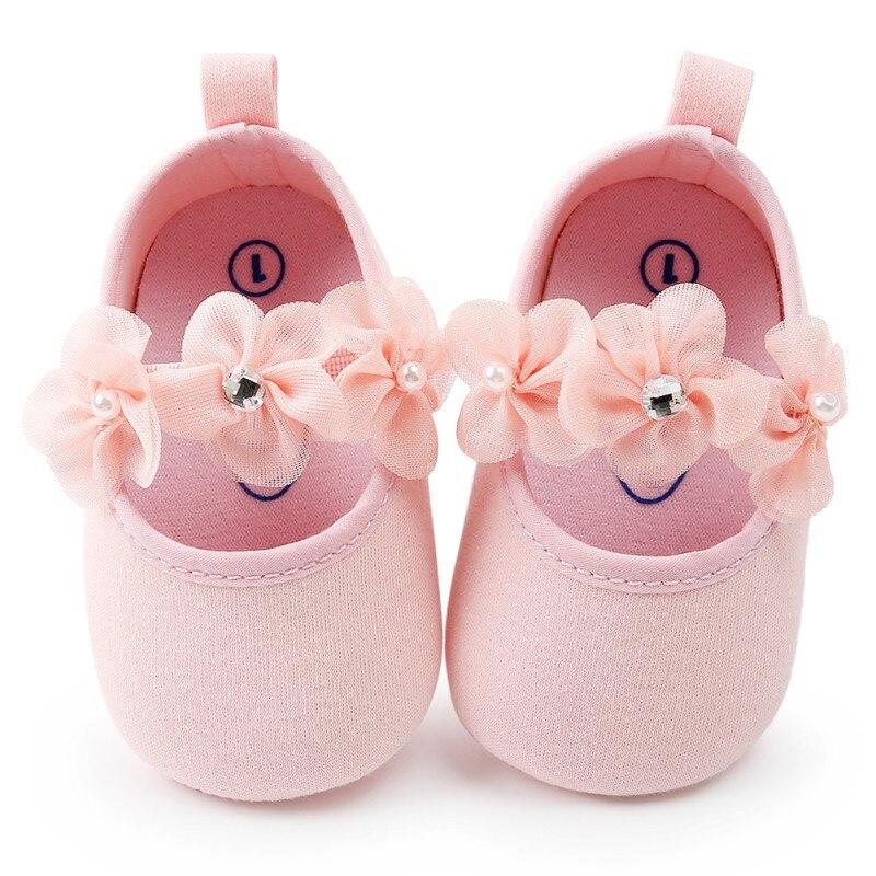 Prewalker Flower Cute Princess Crib Infant Baby Shoes Girls Kids 3-12m Newborn