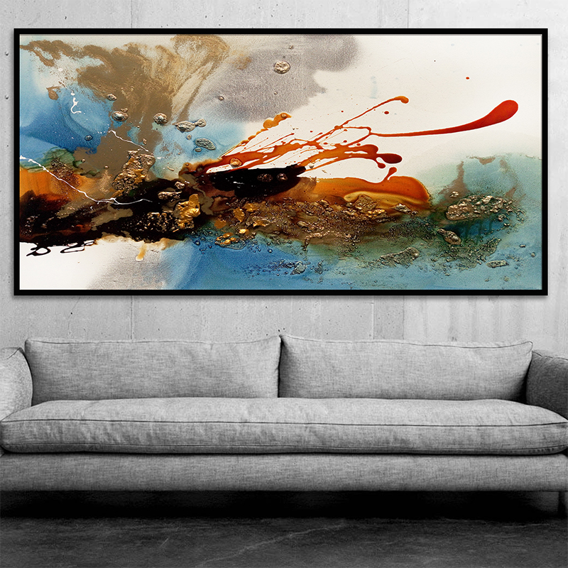 Big Canvas Art Modern Watercolor Abstract Ink Splash Big: 2017 Hot Sale Decorative Canvas Oil Painting Poster