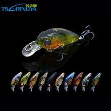 2 Treble Hooks Trurinoya DW24 35mm 3.5g Fishing Lure Artificial Crankbait 1.2m Colorful Mini Crank Fishing Lure Hard Bait with