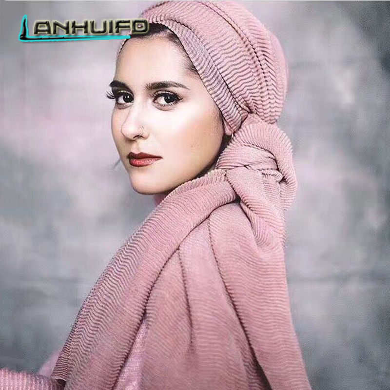 LANHUIFD New Fashion 25 Colors   Scarf   Vintage Ladies Solid Color   Scarves     Wraps   Women's   Scarf   Long Shawl Muslim hijab