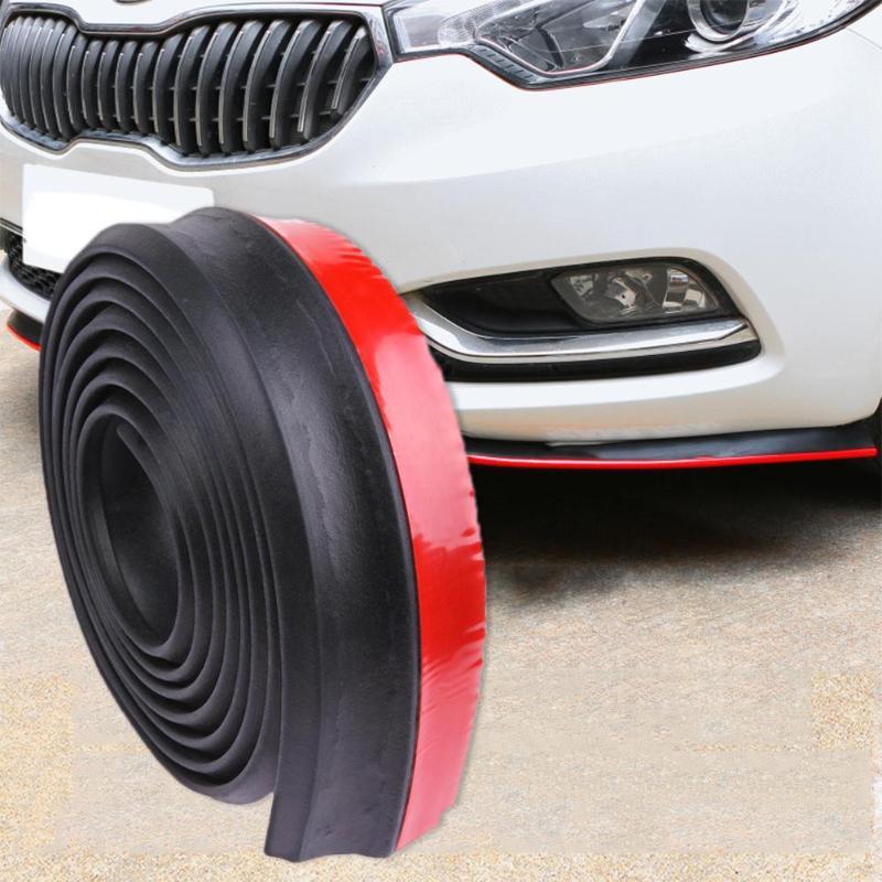 2,5 mt/8.2ft Auto Styling Auto Stoßstange Streifen Band Rubber Moulding Splitter Außen Front Lip Auto Aufkleber Protector zubehör