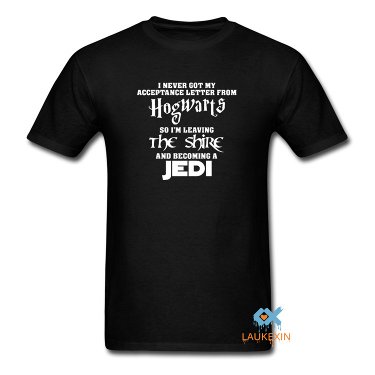 star wars tshirt with harry potter slogan i never got my acceptance letter
