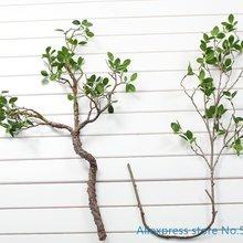 1 шт. красивые искусственные зеленые листья ветка растения пластиковые кусты дома Свадебные украшения F419