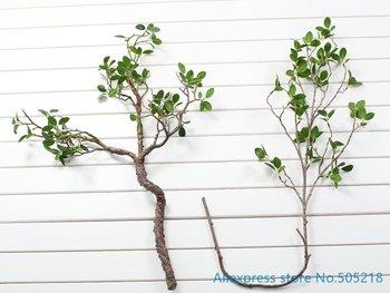 1 sztuk piękne sztuczne zielone liście oddział roślin plastikowe Bush Home dekoracje ślubne F419 tanie i dobre opinie LUCKUP CN (pochodzenie) Sztuczne kwiaty Gałąź z kwiatami Ślub Z tworzywa sztucznego China (Mainland) Display Flower