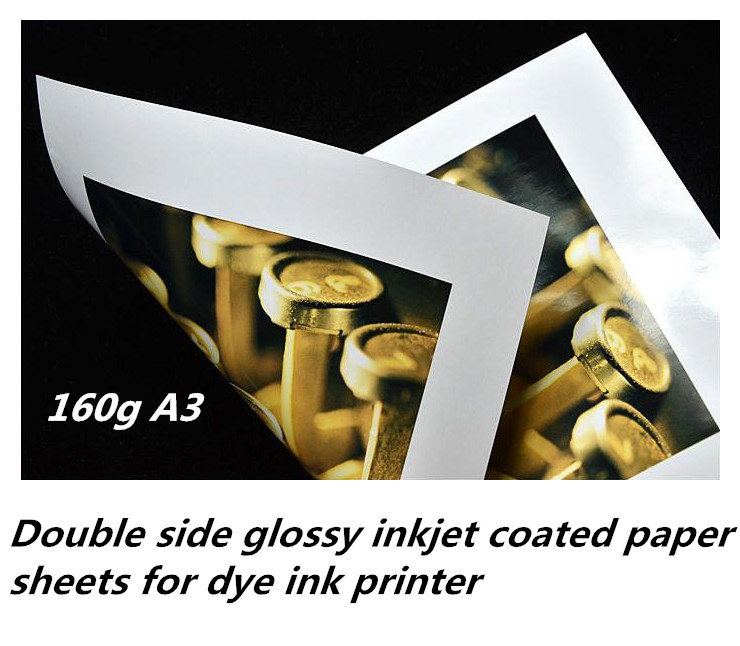 160g A3 size Double sided glossy bulk photo paper sheets