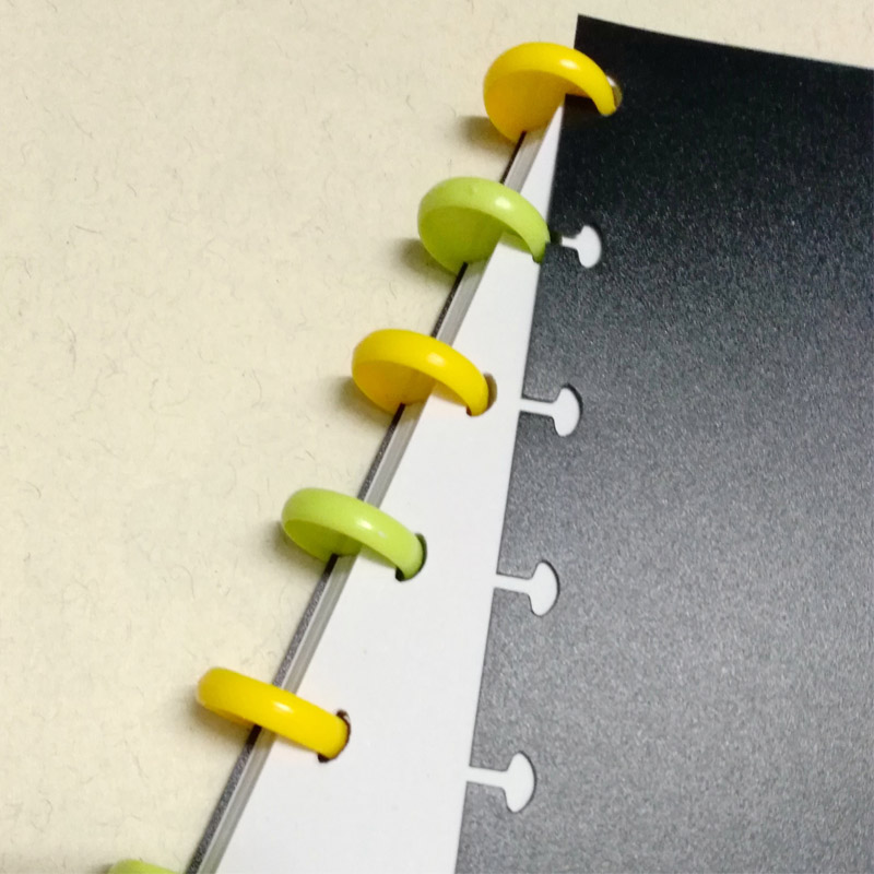 20mm Plastic Disc-binding Loose Book Binding Ring Disc Arc Binding Notebook Arc Binding Notebook T Mushroom Hole Office Supplies