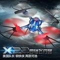 Brand New BBL RC Drone Capitán América/Iron Man Patrón 2.4G 4-Axis El Modo Sin Cabeza LED RC Helicóptero juguete De Regalo/de Los Cabritos