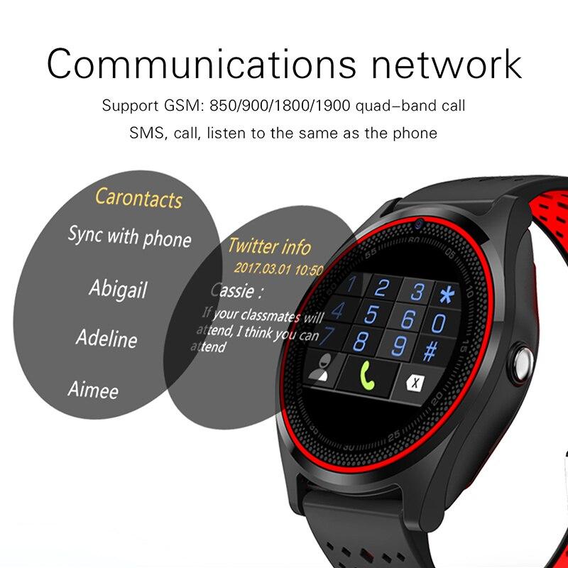 DOITOP V9 podomètre santé Sport horloge MP3 musique jouer montre intelligente Bluetooth montre intelligente V9 avec caméra Smartwatch montre-bracelet