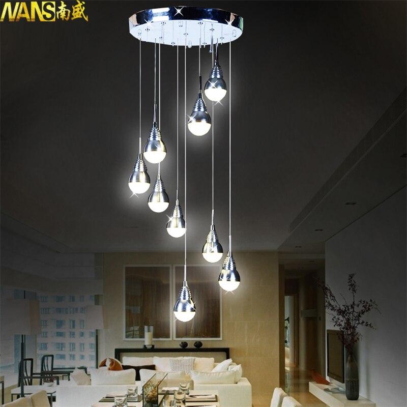 NANS 27 Watt Replaceable LED Bulb Pendant Light Meteor Rain Meteoric Shower Stair Bar Droplight LED Lamp AC110-240V Lighting