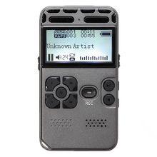 64g recarregável lcd digital áudio som gravador de voz ditaphone mp3 player