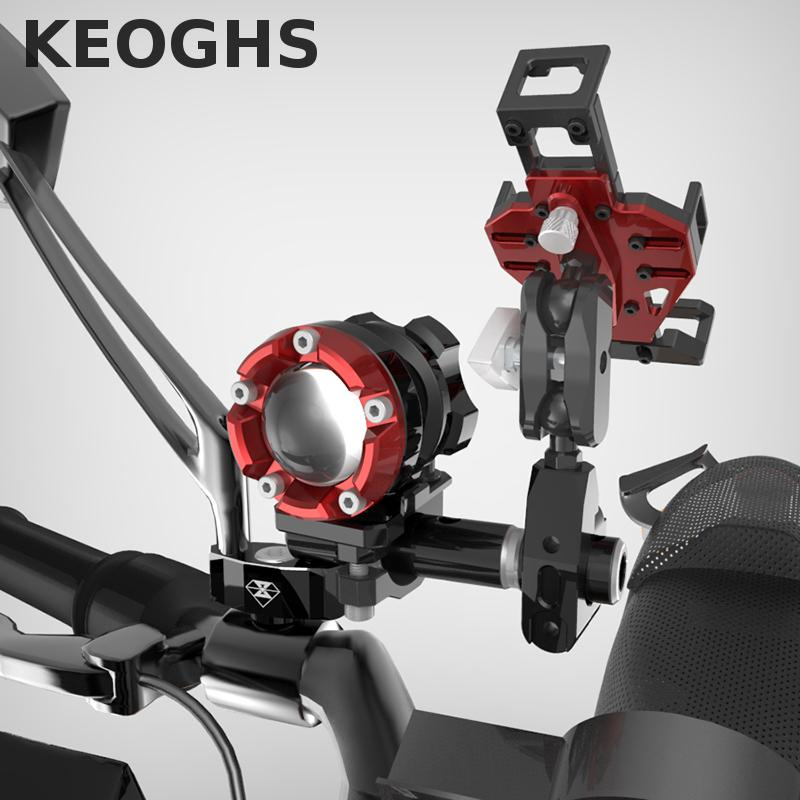 Keoghs High Quality Motorcycle Light/phone Hold Support/mirror Seat/extension Rod/hook One Set 8/10mm For Honda Yamaha Kawasaki keoghs real adelin 260mm floating brake disc high quality for yamaha scooter cygnus modify