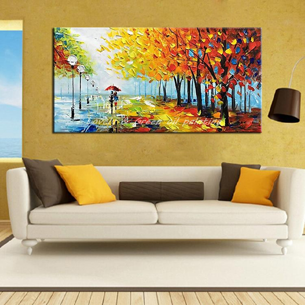 Hand Painted Decorative Poster Wall Art Canvas Oil Painting Palette ...