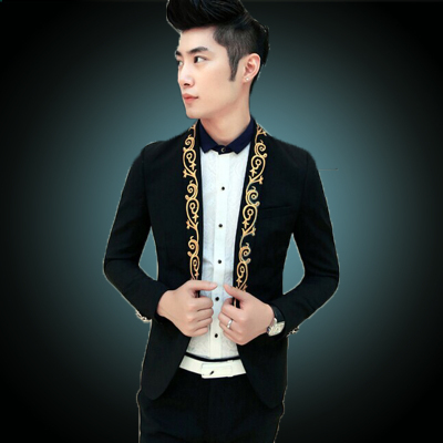 2016 Gold Suit Jackets White Blazers Mens Baroque Costume Mens ...