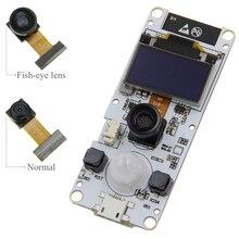 LILYGO®TTGO T กล้องESP32 WROVER & PSRAMกล้องโมดูลESP32 WROVER B OV2640 โมดูลกล้อง 0.96 OLED