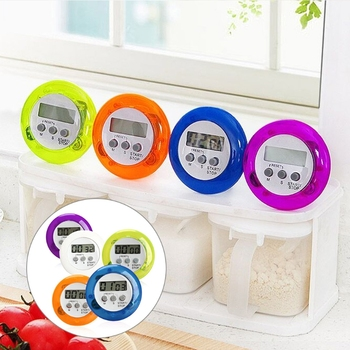 2017 LCD Digital Kitchen Countdown Magnetic Timer Back Stand Cooking Tools