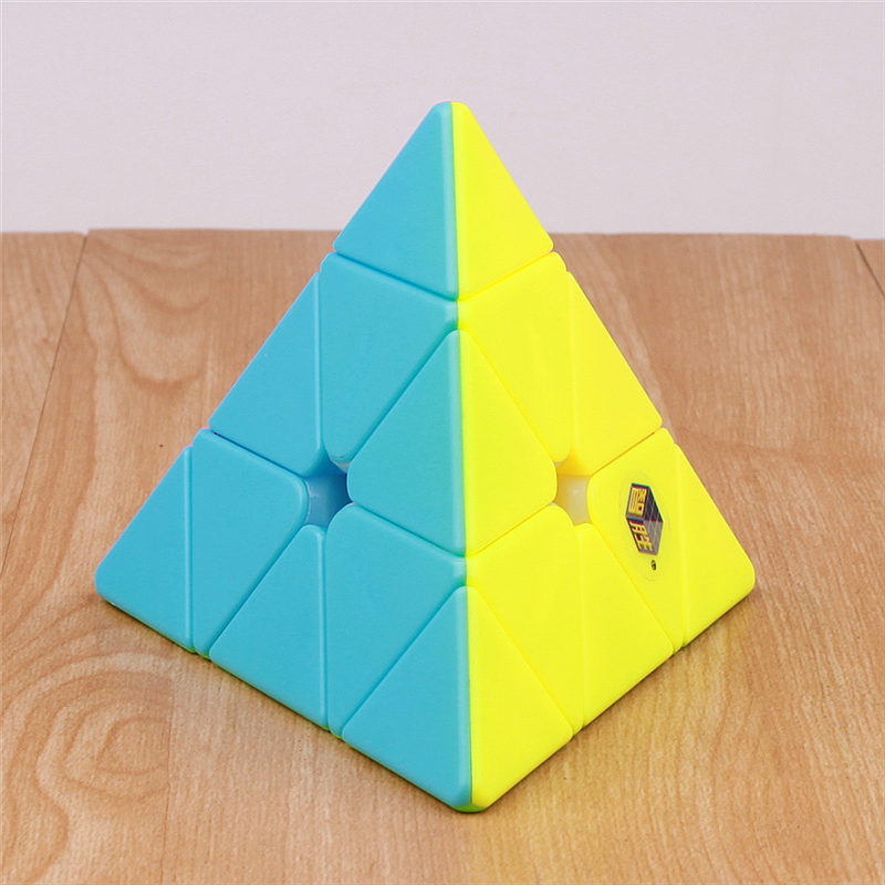 Yuxin Pyramidcube Magic Cube Original Zhisheng Stickerless Pyramid Plastic Puzzle Cube Kids Toys Professional Speed Cubes
