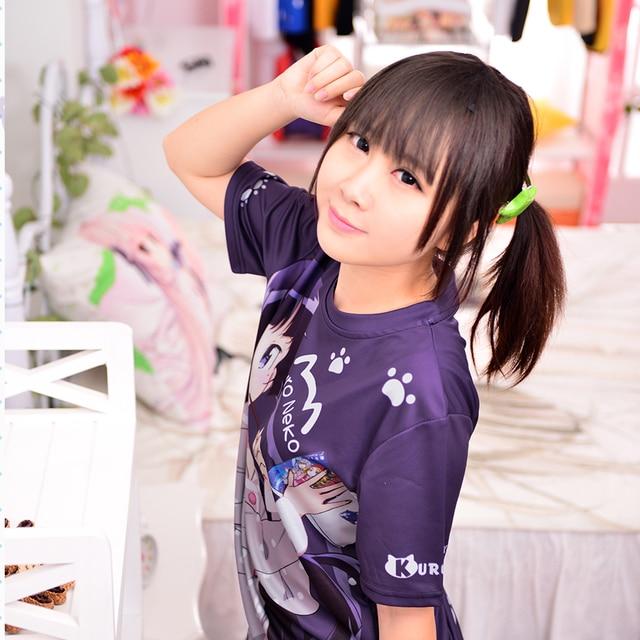 Japanese Anime Oreimo T-shirt Kuroneko, Goko Ruri Polyester T Shirt Summer Active Animation Men Women Clothing 6