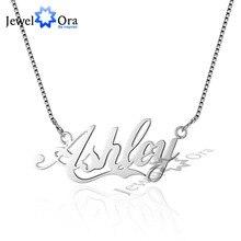 Название DIY стерлингового серебра 925 Цепочки и ожерелья ручной работы персонализированные Ожерелья и подвески персональный подарок для ее (JewelOra NE101539)