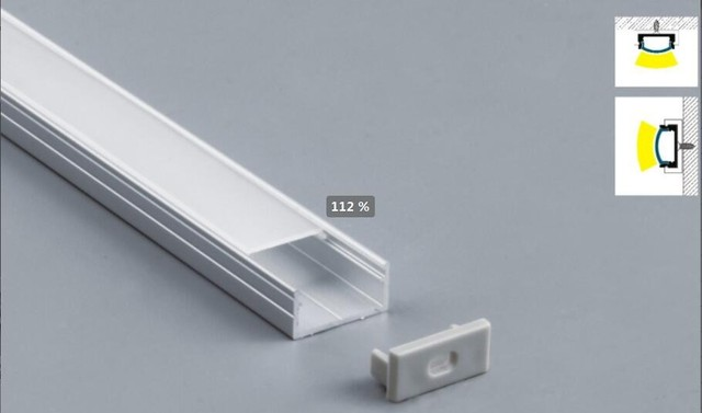 Free Shipping Hot Selling Slim Size Led Extrusion Aluminum