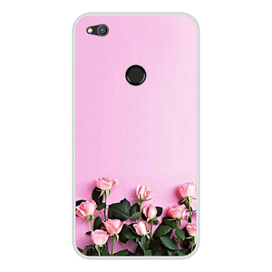"""Image 2 - Huawei P9 Lite 2017 Cover Case 5.2"""" P8 Lite 2017 Phone Case Silicone Huawei Honor 8 Lite Cases Flowers Pattern Funda"""
