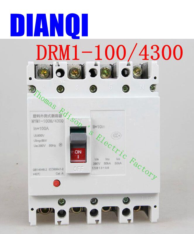 CM1-100/4300 MCCB 16A 20A 25A 32A 40A 50A 63A 80A 100A molded case circuit breaker CM1-100 Moulded Case Circuit Breaker idpna vigi dpnl rcbo 6a 32a 25a 20a 16a 10a 18mm 230v 30ma residual current circuit breaker leakage protection mcb a9d91620
