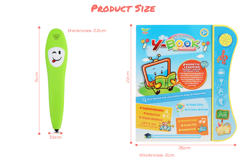 US $23 27 |English Voice Learning Book With Smart Logic Pen Battery Powered  Learning Books With Fruit Recognition and Children Songs-in Learning
