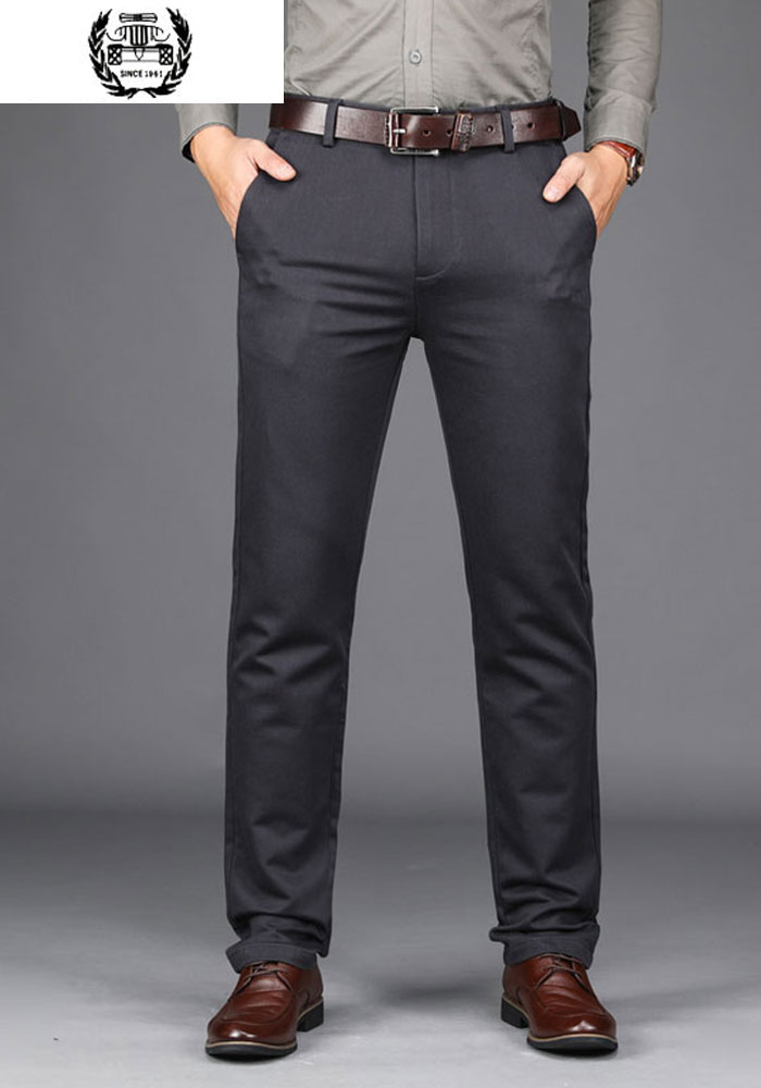 2019 autumn winter mens dress pants cargo military mens