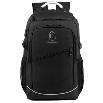 New USB Charging Laptop Backpack 15.6 Inch Daily Work Backpacks Men Vintage Schoolbags School back pack Male Travel Mochila