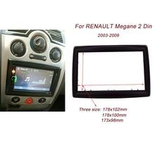 Высокое качество 2DIN Автомобильная Радио фасция для RENAULT Megane II 2003-2009 Стерео Переходная рамка панель приборная панель комплект адаптер рамка