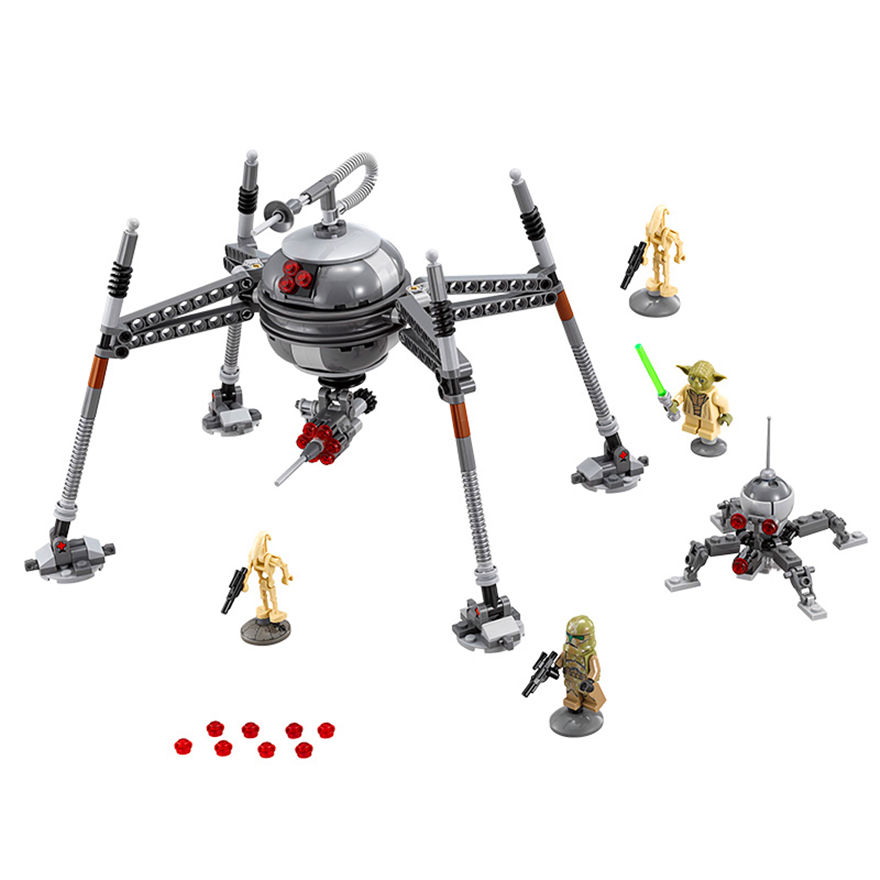 320Pcs Star Wars Homing Spider Droid Master Model Compatible Legoe 75142 Building Block Toys LEPIN 05025 Gift For Children 5pcs 2000mah bateria np fw50 npfw50 np fw50 batteries for sony nex 5 nex 7 slt a55 a33 a55 a37 a3000 a5000 a51000 a6000 cameras
