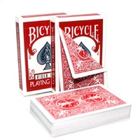 1 Deck Bicycle Double Red Blue Back No Face Playing Cards Gaff Magic Cards Special Props