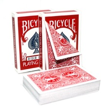 1 Deck Bicycle Double Red/Blue Back No Face Playing Cards Gaff Magic Cards Special Props Close Up Magic Tricks for Magician