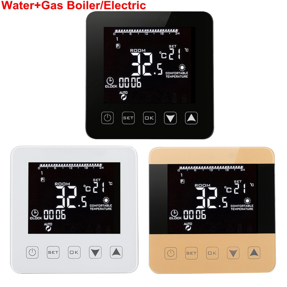 Wireless Wifi Programmable Temperature Regulator Heating Thermostat Digital LCD Touch Screen Temperature Controller Thermostat цены