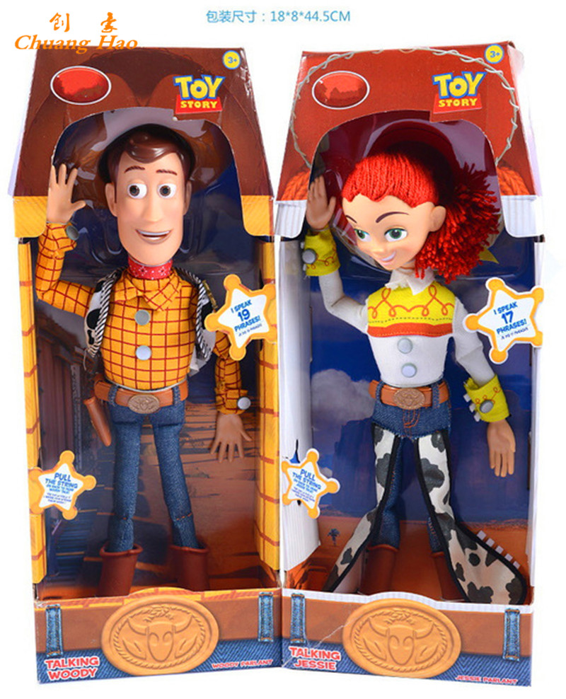 Jessie from toy story bedding - Toy Story 3 Talking Woody Jessie Pvc Action Figure Collectible Model Toy Doll 38cm De238