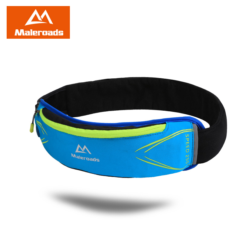 Maleroads Waterproof Gym Running Belt Cycling Waist Bag Ultralight Sport Fanny Pack Cell Phone Holder Money Pouch For Men Women belt